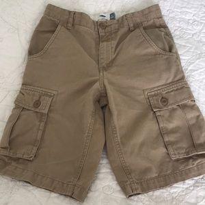 Old Navy khaki cargo boys shorts size 12